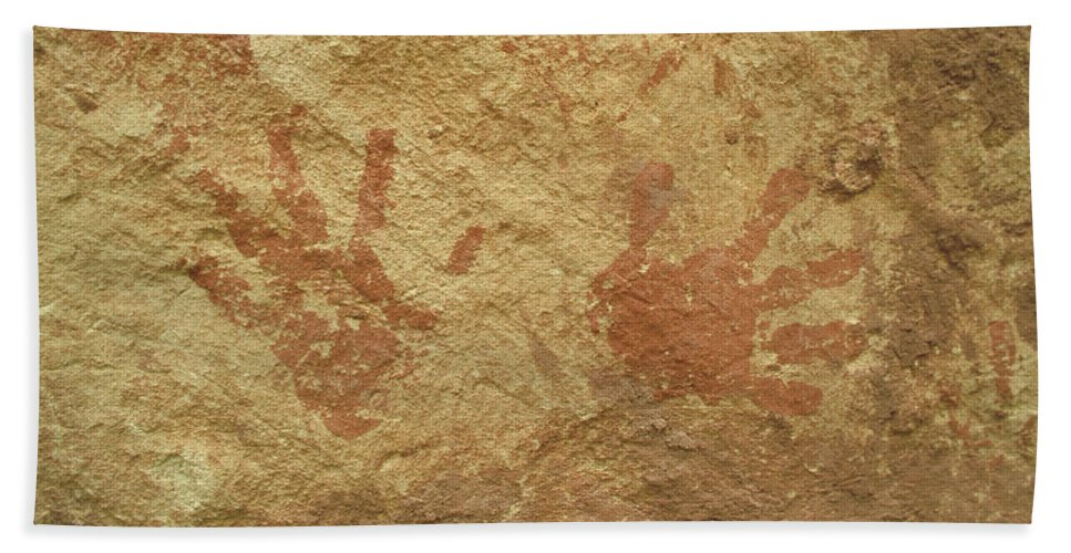Anasazi Bath Sheet featuring the photograph Ancient Hands by Jerry McElroy