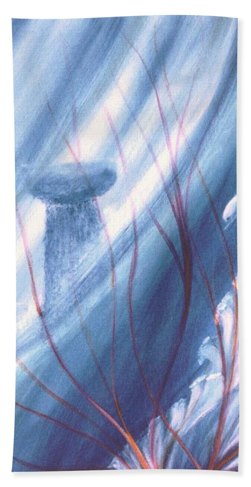 Underwater Seascape Hand Towel featuring the painting Ancient Latte by Dina Holland
