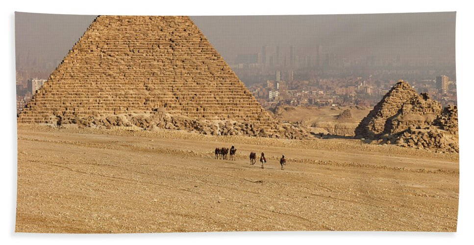 Egypt Hand Towel featuring the photograph Ancient Of Times - Modern Of Times by Lucinda Walter