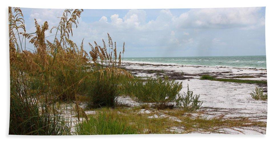 Beaches Bath Sheet featuring the photograph Anclote Key Preserve by Barbara Bowen