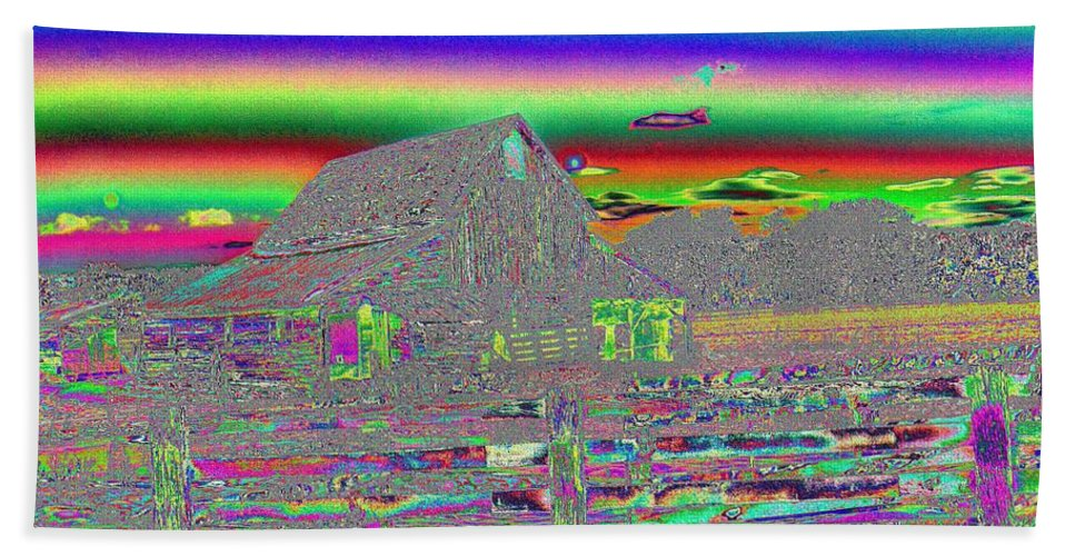 Digital Art Bath Sheet featuring the photograph And There Were Rainbows by Jeff Swan