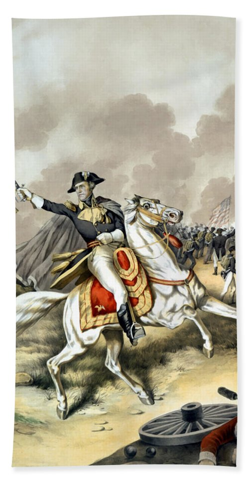 Andrew Jackson Bath Towel featuring the painting Andrew Jackson At The Battle Of New Orleans by War Is Hell Store