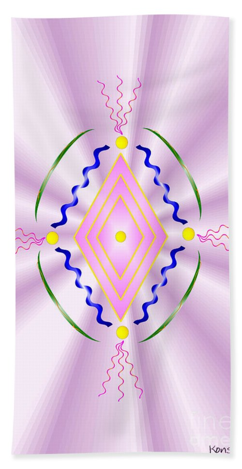 Angel Hand Towel featuring the digital art Angelic Code - Sacred Symbol Of Love by Konstadina Sadoriniou