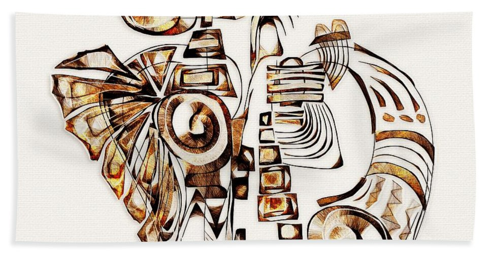 Abstraction Hand Towel featuring the digital art Angelic Tube 3637 by Marek Lutek