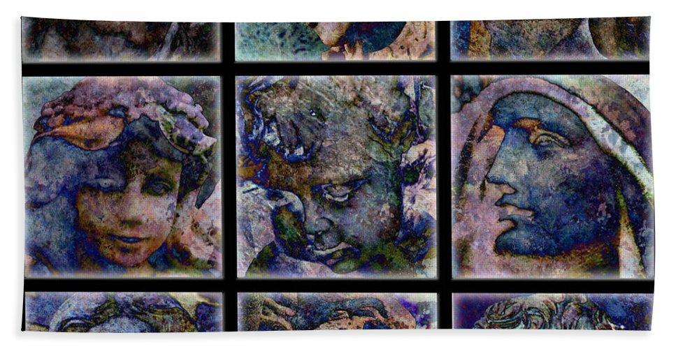Angel Bath Sheet featuring the digital art Angels by Barbara Berney