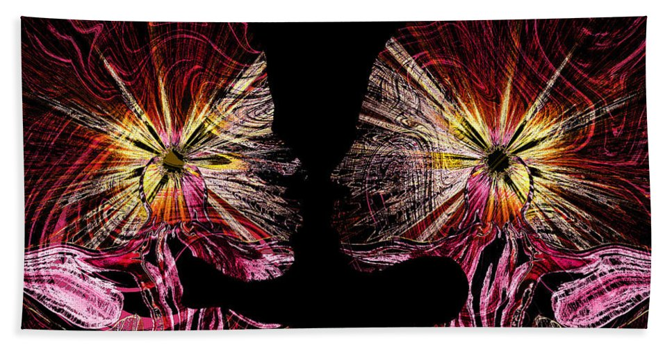 Angels Hand Towel featuring the painting Angels Inside by Abstract Angel Artist Stephen K