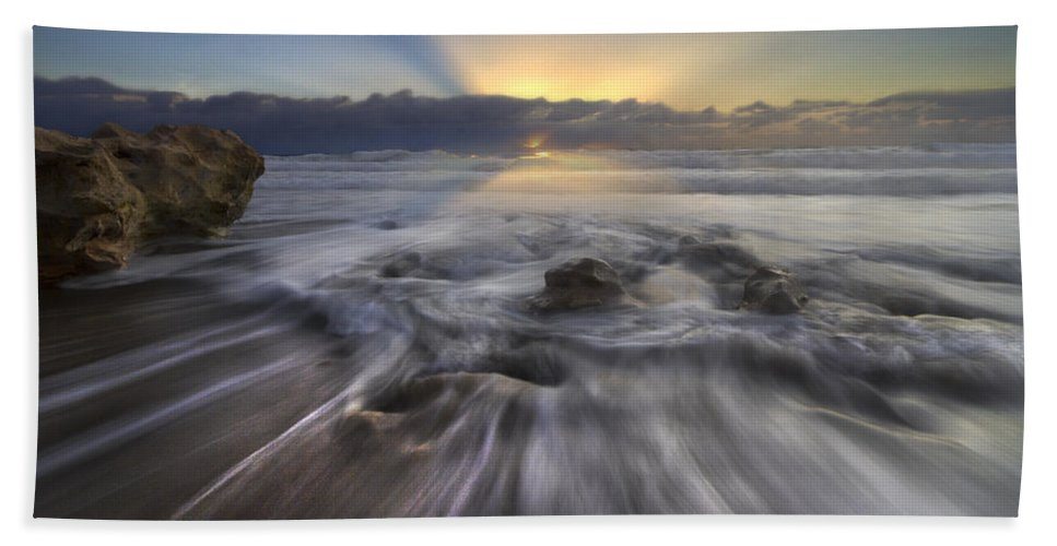 Blowing Bath Sheet featuring the photograph Angel's Walk by Debra and Dave Vanderlaan