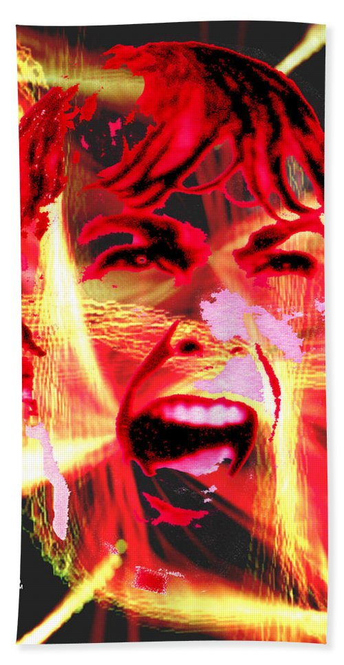 Anger Hand Towel featuring the digital art Anger Management by Seth Weaver