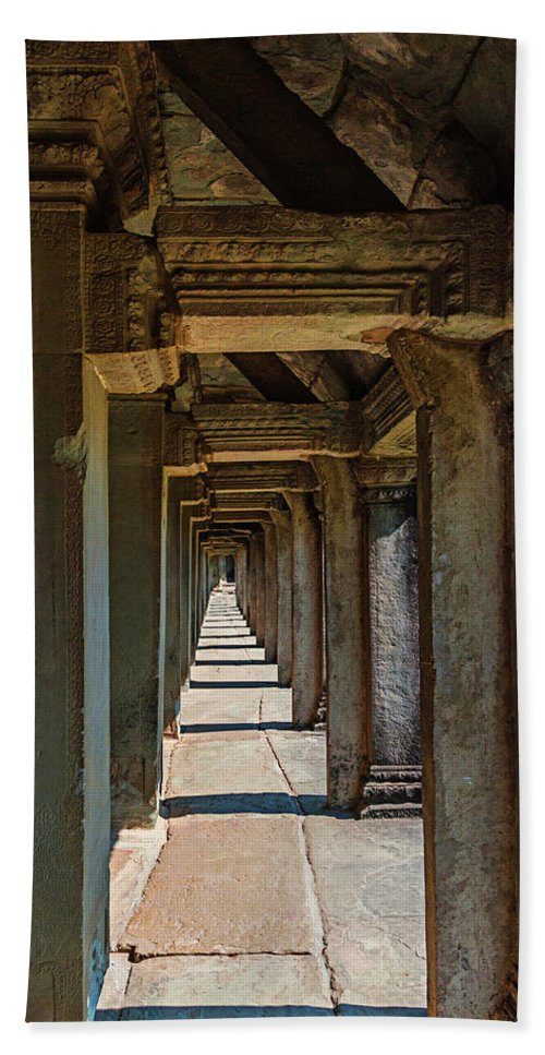 Khmer Bath Sheet featuring the photograph Angkor Wat by Peter Moderdovsky