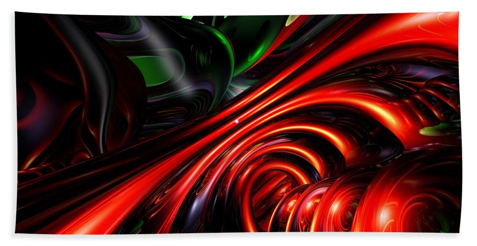 3d Hand Towel featuring the digital art Angry Clown Abstract by Alexander Butler
