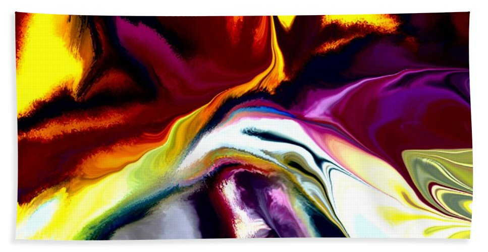 Abstract Hand Towel featuring the digital art Angst by David Lane
