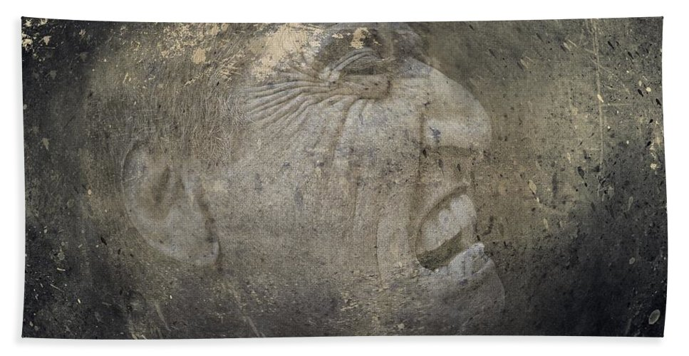 Anguish Hand Towel featuring the photograph Anguish by Movie Poster Prints