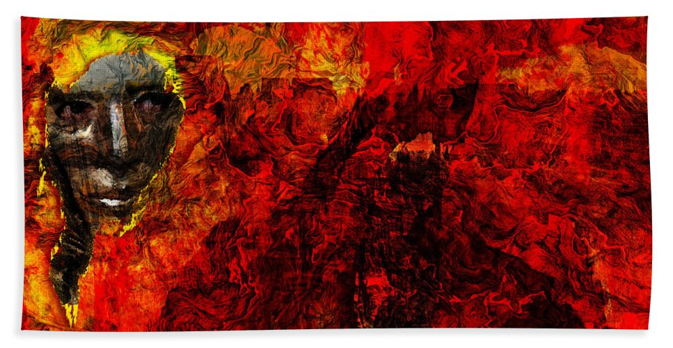 Animus Hand Towel featuring the digital art Animus by Max Steinwald