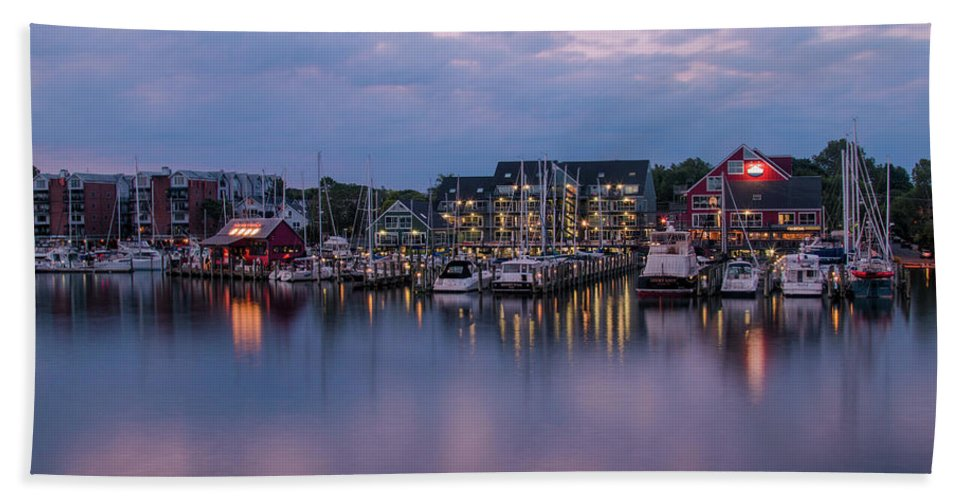 Landscape Bath Sheet featuring the photograph Annapolis Early Morn by Gail Brown-Niles