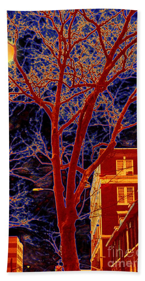 Brooklyn Hand Towel featuring the photograph Another Brooklyn Night by Madeline Ellis