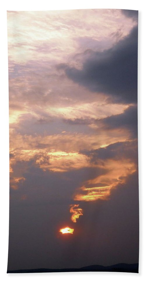 Sunset Hand Towel featuring the photograph Another California Sunset by Stephanie Moore