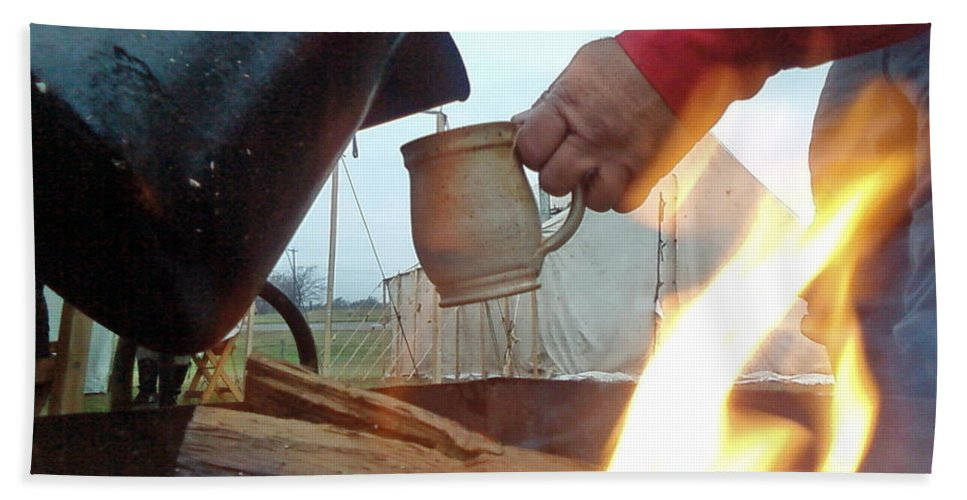 Fire Bath Sheet featuring the photograph Another Cup Of Coffee by Cindy New