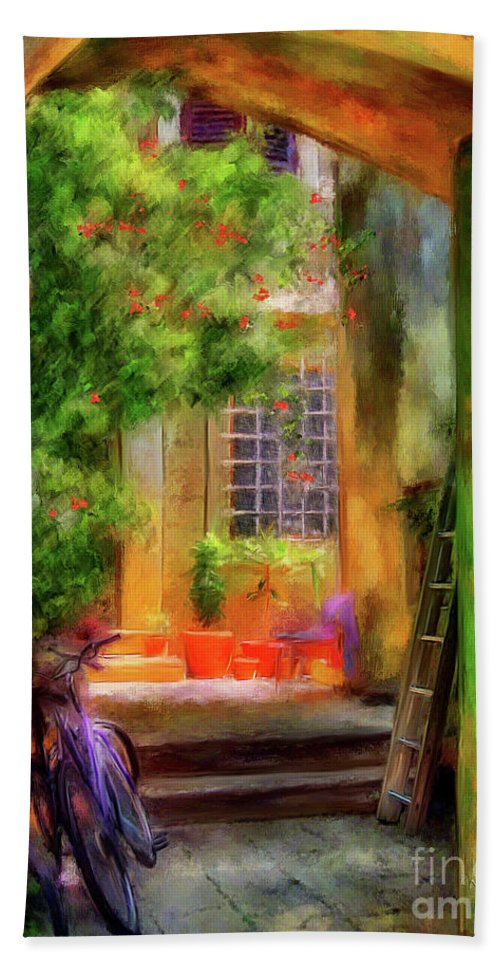 Doorway Hand Towel featuring the digital art Another Glimpse by Lois Bryan
