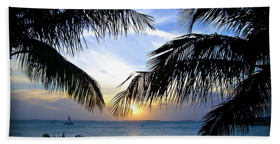 Sunset Bath Sheet featuring the photograph Another Key West Sunset by Joan Minchak