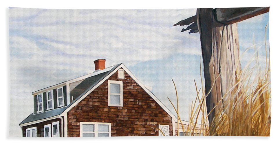 Landscape Bath Towel featuring the painting Another New England Sunrise by Dominic White