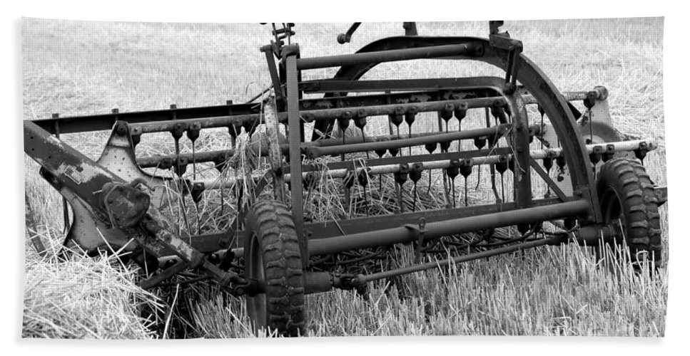 Hay Bath Sheet featuring the photograph Rake The Hay by Kathleen Struckle
