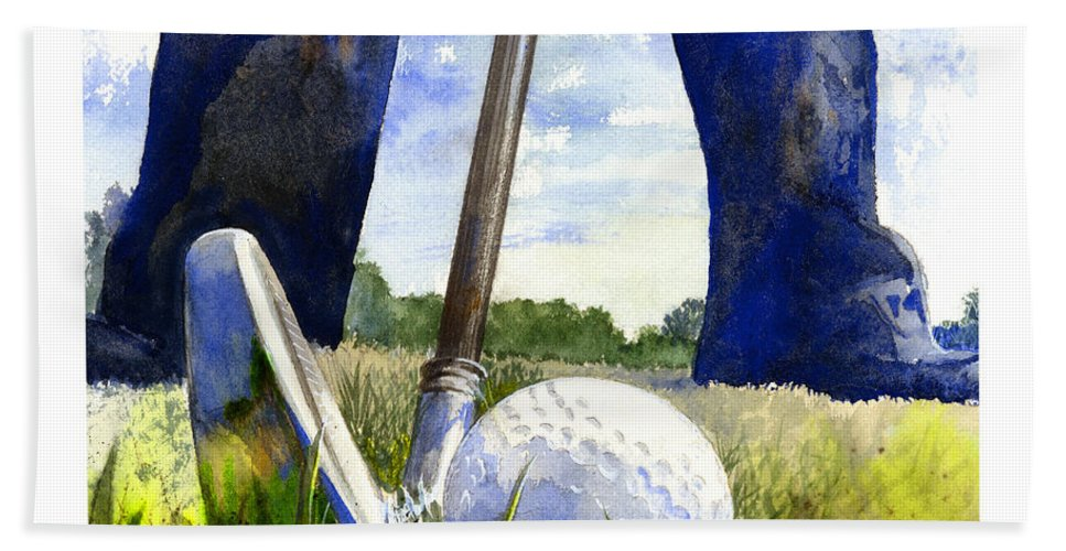 Watercolor Bath Towel featuring the painting Anticipation by Andrew King