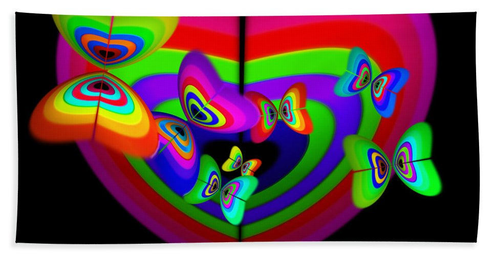 Bath Sheet featuring the digital art Anticipation by Charles Stuart