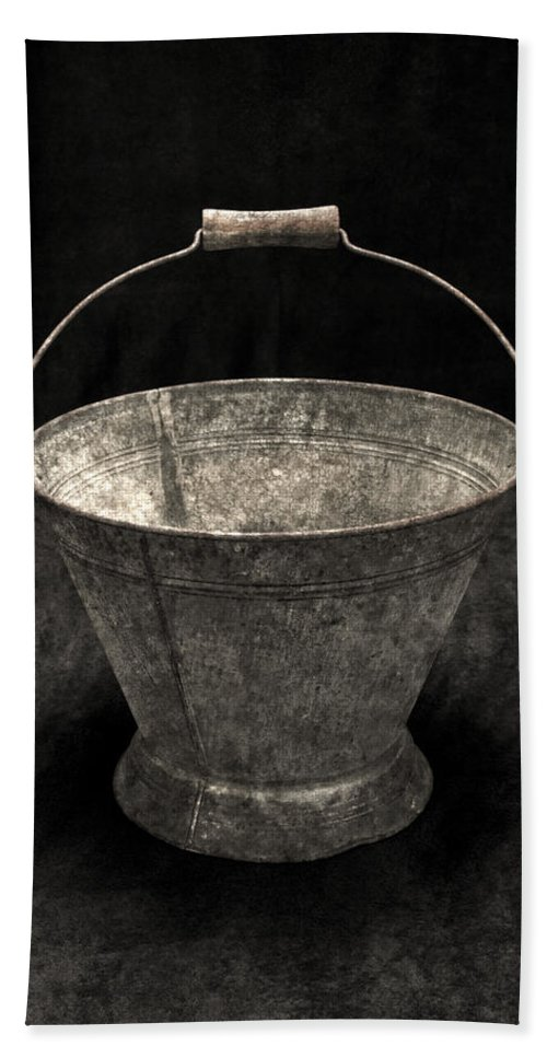 Still Life Hand Towel featuring the photograph Antique Bucket For Your Modern List by John Stephens