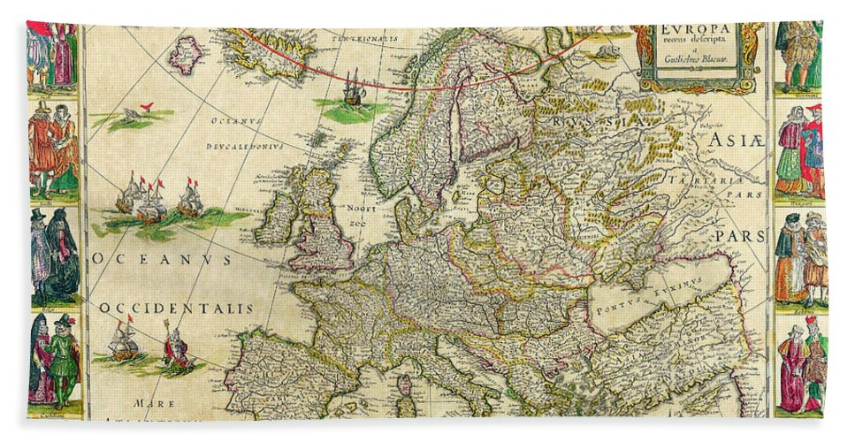 Blaeu World Map.Antique Maps Of The World Map Of Europe Willem Blaeu C 1650 Bath