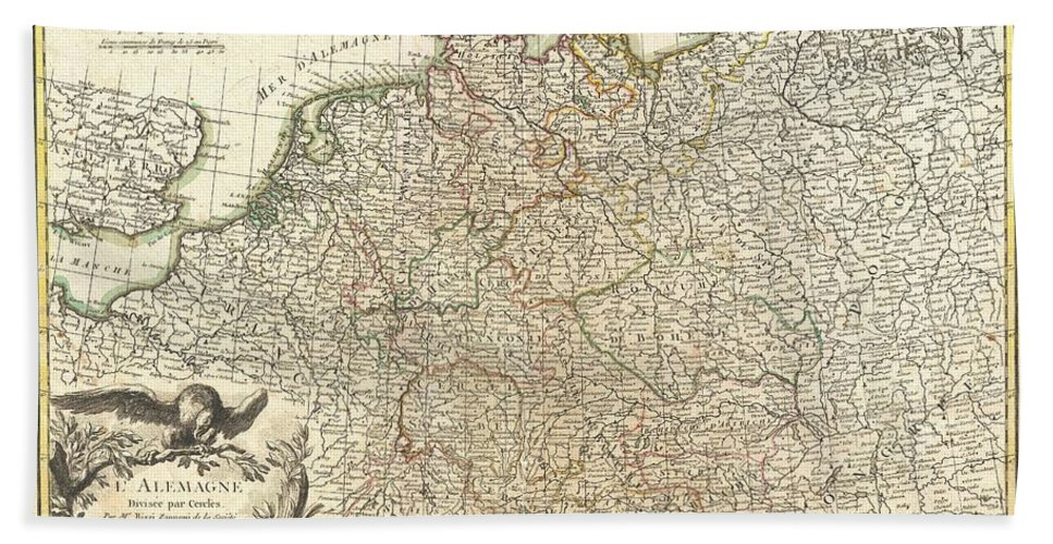 Map Of Germany For Sale.Antique Maps Old Cartographic Maps Antique Map Of Germany And Poland 1771 Bath Towel