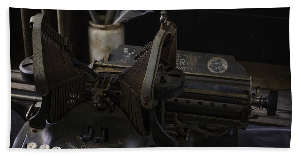 Type Writer Hand Towel featuring the photograph Antique Writing by Billy Bateman