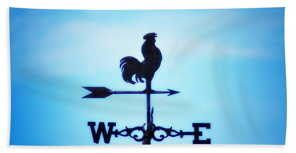Weather Vane Hand Towel featuring the photograph Any Way The Wind Blows Home by Bill Cannon