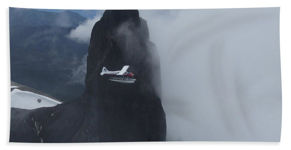 Aviation Hand Towel featuring the photograph Aop At Black Tusk by Mark Alan Perry