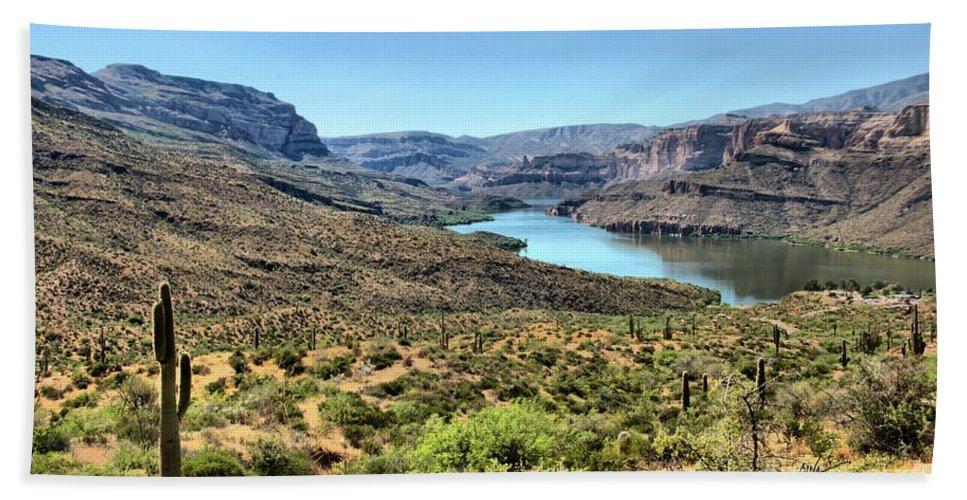 Arizona Bath Sheet featuring the photograph Apache Trail - Salt River - Arizona by Mark Valentine