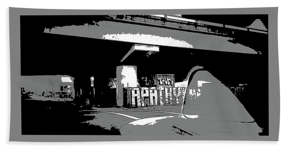 Art Bath Towel featuring the photograph Apathy Avenue by Ryan Fox