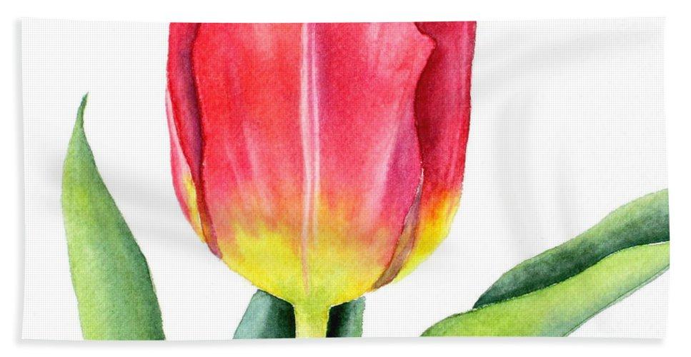 Apeldoorn Hand Towel featuring the painting Apeldoorn by Deborah Ronglien