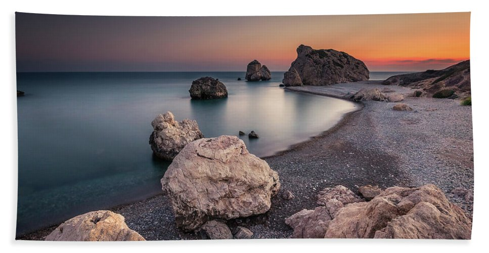 Rock Bath Sheet featuring the photograph Aphrodities Rock by Rich Wiltshire