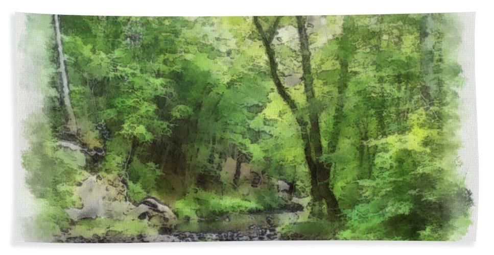 Wright Bath Sheet featuring the photograph Appalachian Creek by Paulette B Wright