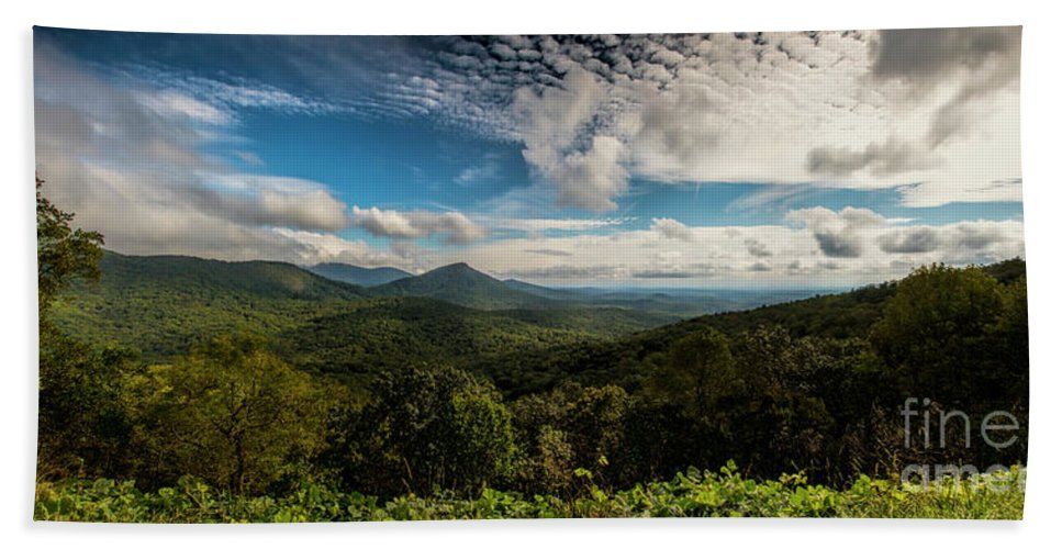 Appalachian Foothills Bath Sheet featuring the photograph Appalachian Foothills by Barbara Bowen