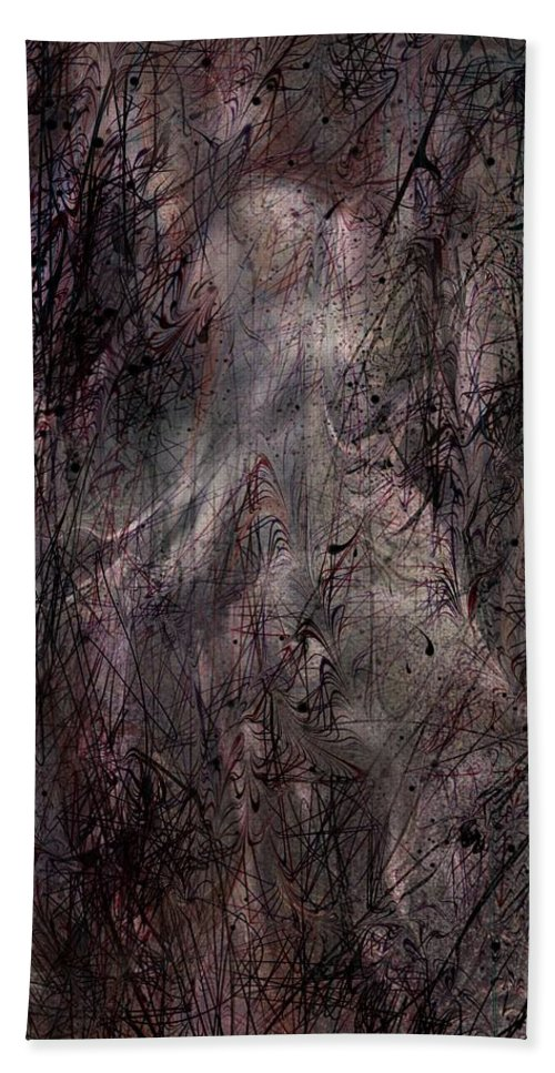 Apparition Hand Towel featuring the digital art Apparition by Rachel Christine Nowicki