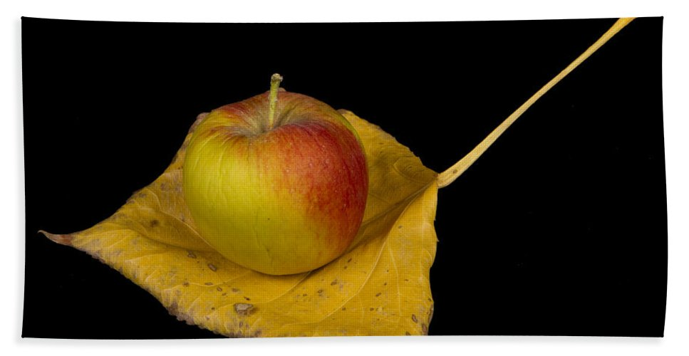 Apple Hand Towel featuring the photograph Apple Harvest Autumn Leaf by James BO Insogna