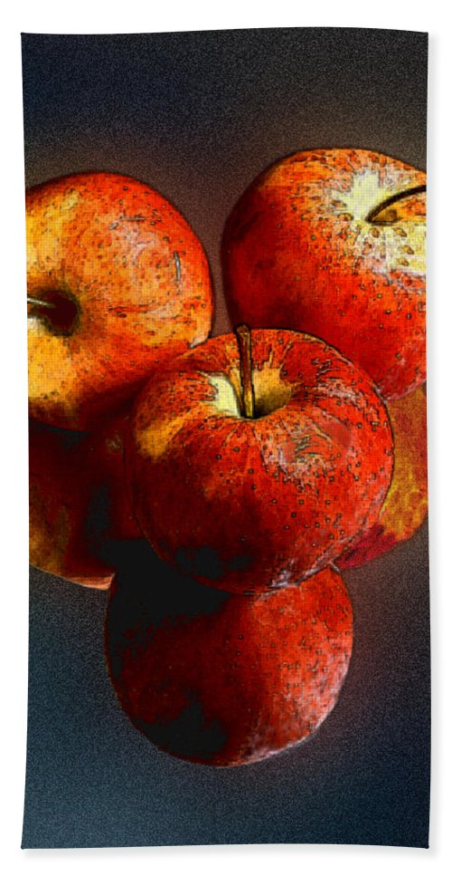 Apples Hand Towel featuring the photograph Apples And Mirrors by Paul Wear