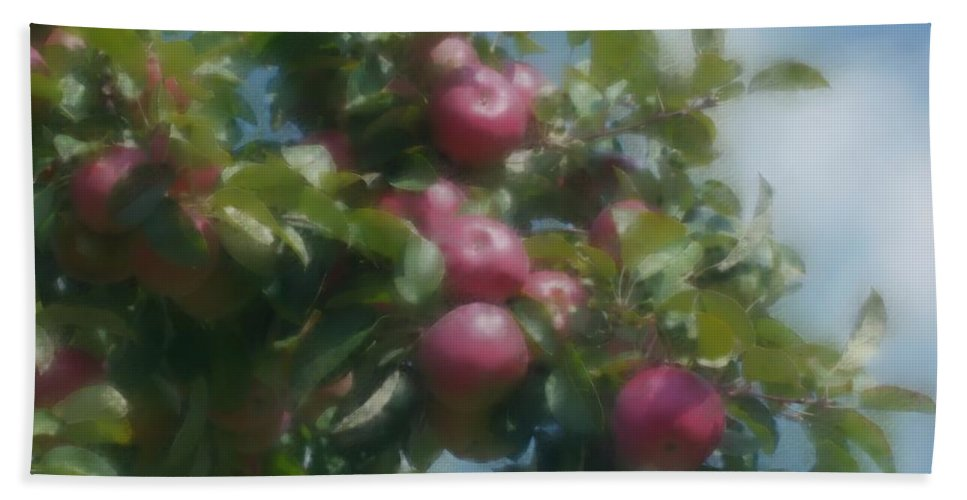 Apples Bath Sheet featuring the digital art Apples And Sky by Smilin Eyes Treasures