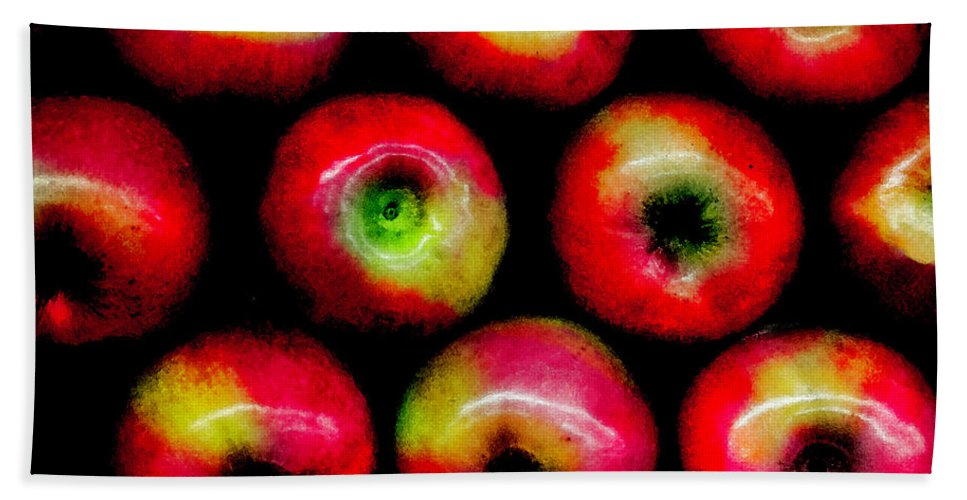 Apples Bath Sheet featuring the photograph Apples by Madeline Ellis