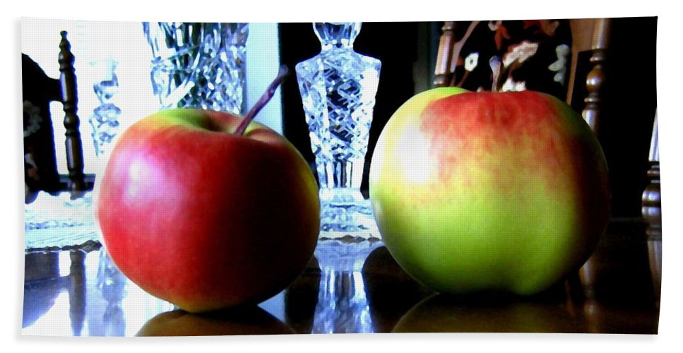 Apples Hand Towel featuring the photograph Apples Still Life by Will Borden