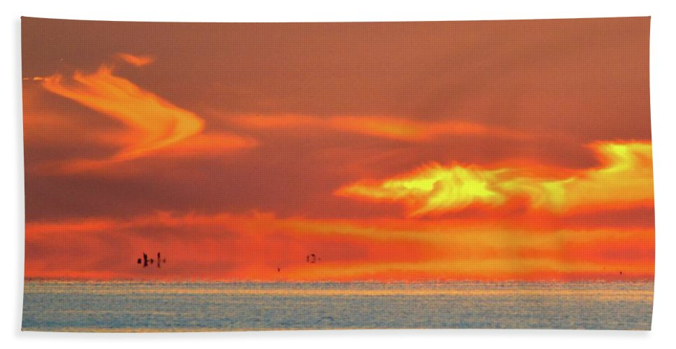Abstract Hand Towel featuring the photograph Approaching August Sunrise At Lake Simcoe 2 by Lyle Crump