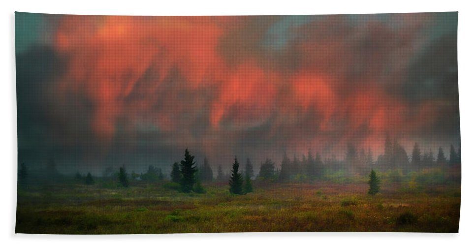 Ron Jones Hand Towel featuring the photograph Approaching Winter by Ron Jones
