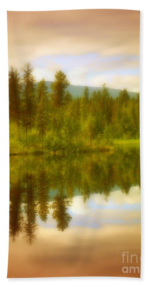Trees Hand Towel featuring the photograph Apricot Reflections by Tara Turner