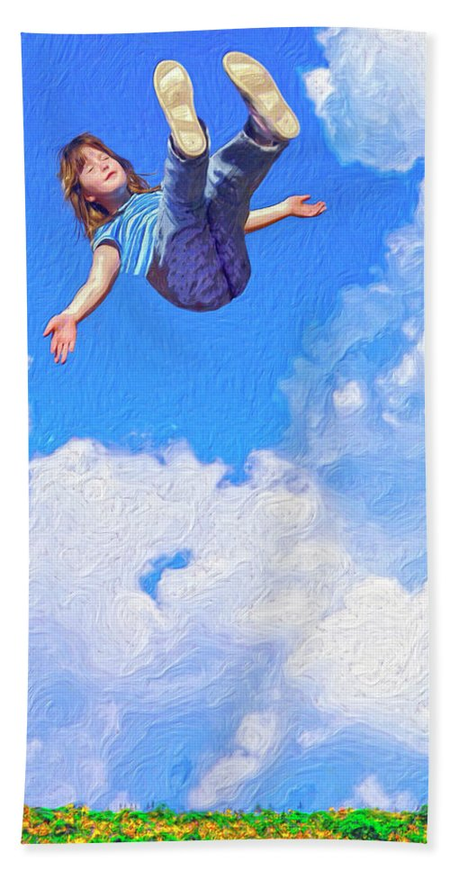 Floating Bath Sheet featuring the painting Aquarius Rising by Dominic Piperata