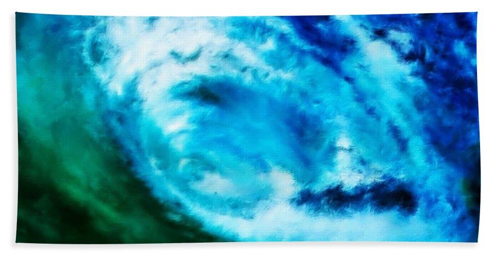 Surf Bath Sheet featuring the digital art Aquatini by Keith Kos